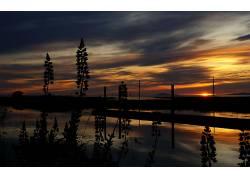 18890,地球,日落,风景,壁纸