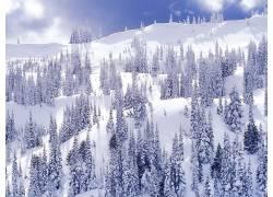 20334,地球,冬天的,雪,山,壁纸