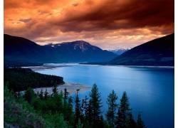 76845,地球,河,水,山,森林,树,壁纸图片