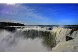 120825,地球,Iguazu,瀑布,瀑布,壁纸