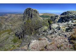 79417,地球,山,山脉,风景,岩石,露头,沙漠,壁纸