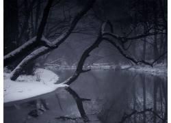 21414,地球,冬天的,冰,湖,雪,反射,壁纸图片