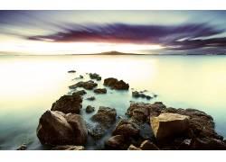 85602,地球,雾,艺术的,水,岩石,壁纸图片