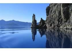 85612,地球,悬崖,水,岩石,露头,壁纸