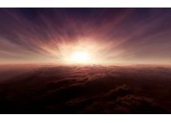 85614,地球,云,太阳,天空,壁纸