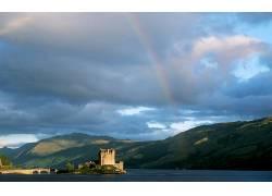 85668,地球,彩虹,摄影,风景,城堡,壁纸图片