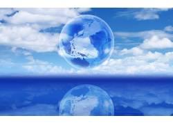 76943,地球,艺术的,海,蓝色,天空,壁纸图片