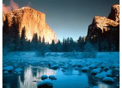 22556,地球,冰,雪,溪流,山,壁纸图片