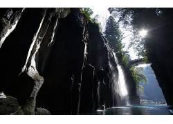 86133,地球,河,岩石,水,悬崖,桥梁,壁纸图片