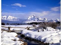 22562,地球,冬天的,雪,山,壁纸