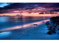 86204,地球,海滩,日落,云,壁纸
