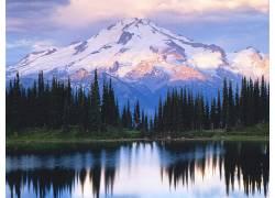 22567,地球,山,山脉,森林,雪,壁纸图片