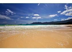 86212,地球,海滩,水,云,沙,壁纸图片
