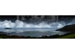 22583,地球,A,轻柔的,世界,行星,海洋,云,壁纸图片