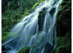 86973,地球,瀑布,瀑布,禅,壁纸图片