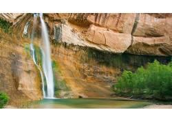 79530,地球,小牛,小溪,瀑布,瀑布,壁纸