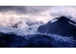 87478,地球,山,山脉,雪,云,冬天的,寒冷,风景,岩石,天空,壁纸