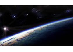 80316,地球,从,空间,风景,空间,行星,明星,太阳,壁纸图片