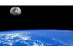 80317,地球,从,空间,空间,月球,地平线,行星,壁纸图片