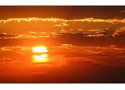 80430,地球,日落,摄影,风景,云,天空,红色,壁纸