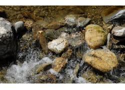 80435,地球,石头,摄影,水,溪流,小溪,岩石,鹅卵石,壁纸图片