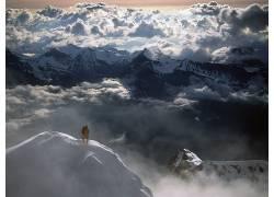 87744,地球,山,山脉,瑞士,阿尔卑斯山脉,攀爬,极端的,攀爬,壁纸图片