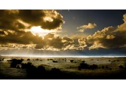 87832,地球,风景,摄影,天空,荒地,太阳,云,泥土,沙,土地,草,沙漠,