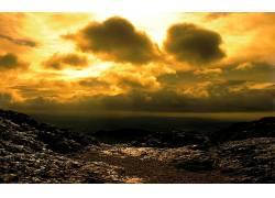 36474,地球,沙漠,云,日落,壁纸