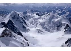 68300,地球,山,山脉,雪,冬天的,壁纸图片
