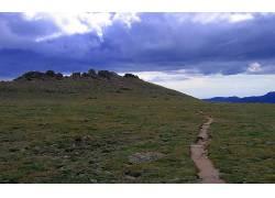 88221,地球,领域,风景,摄影,天空,荒地,符文,岩石,石头,云,小路,