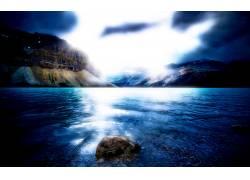 81037,地球,艺术的,蓝色,岛,风景,柔和的辉光,彩色,壁纸图片