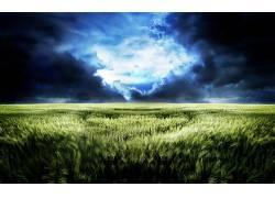 68480,地球,领域,CGI,风景,植物,天空,云,艺术的,壁纸图片