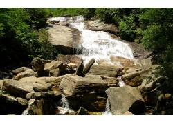 71235,地球,瀑布,瀑布,摄影,岩石,溪流,壁纸