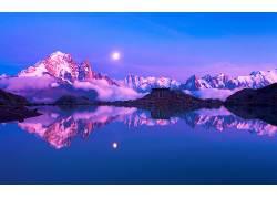 82542,地球,山,山脉,湖,雪,冬天的,壁纸图片
