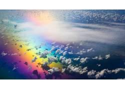 93260,地球,彩虹,艺术的,天空,彩色,富有色彩的,云,壁纸