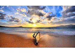83905,地球,海滩,云,太阳,水,壁纸