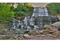 114679,地球,阿尔宾,瀑布,瀑布,壁纸