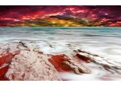 115775,地球,海滩,彩色,壁纸图片