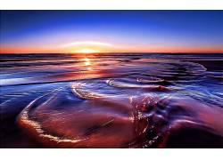 115781,地球,海洋,日落,漩涡,水,壁纸