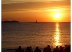 113597,地球,日落,黄色,海,天空,水,太阳,壁纸