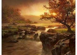 11396,地球,瀑布,瀑布,河,风景,壁纸图片