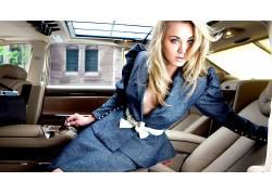人,Kaley Cuoco,模特,演员,汽车内饰,戴眼镜的美女,金发6982