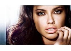 人,阿德里安娜利马,美女,模特,黑发,面对,蓝眼睛37293