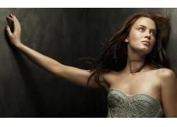 人,艾米莉布朗特,演员,美女,模特,黑发,抬头看45565