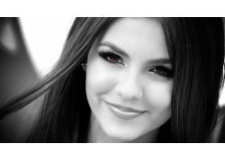 人,Victoria Justice,名人,演员,歌手,美女,选择性着色,单色,肖像
