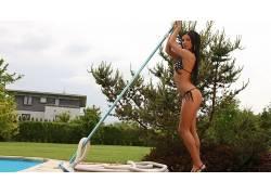 人,阿什莉宝格丽,美女,模特,游泳衣,比基尼泳装,明星,户外的女人6