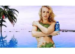 人,Yvonne Strahovski,战略覆盖,人体彩绘,广告,金发,美女,模特34