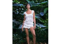 人,阿什莉贾德,森林,白色礼服,美女,演员55300