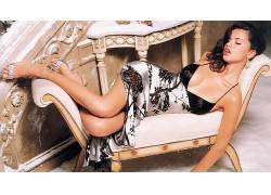 人,阿德里安娜利马,模特,腿,闭着眼睛,美女,长椅,张开嘴58797