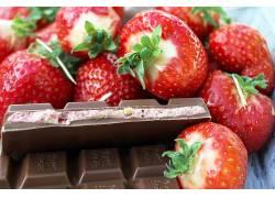 食物,草莓,水果,巧克力,浆果,水果,壁纸